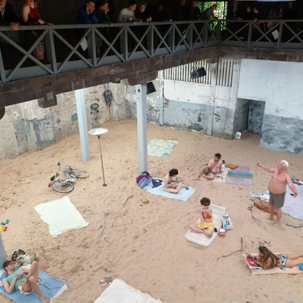 The indoor beach at the Lithuanian pavilion © The Art Newspaper