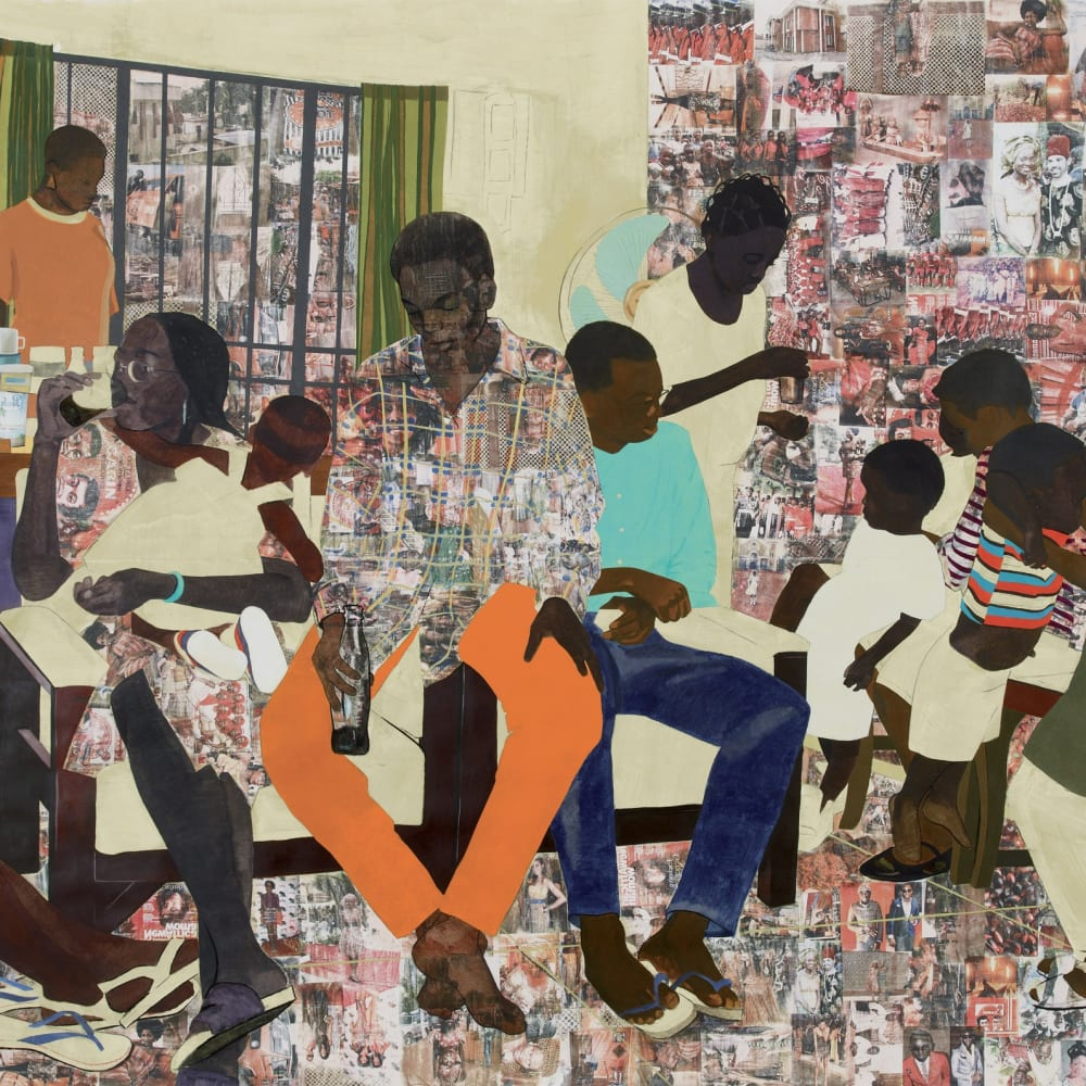 Njideka Akunyili Crosby '5 Umezebi Street, New Haven, Enugu' 2012 Courtesy of the artist and David Zwirner Gallery