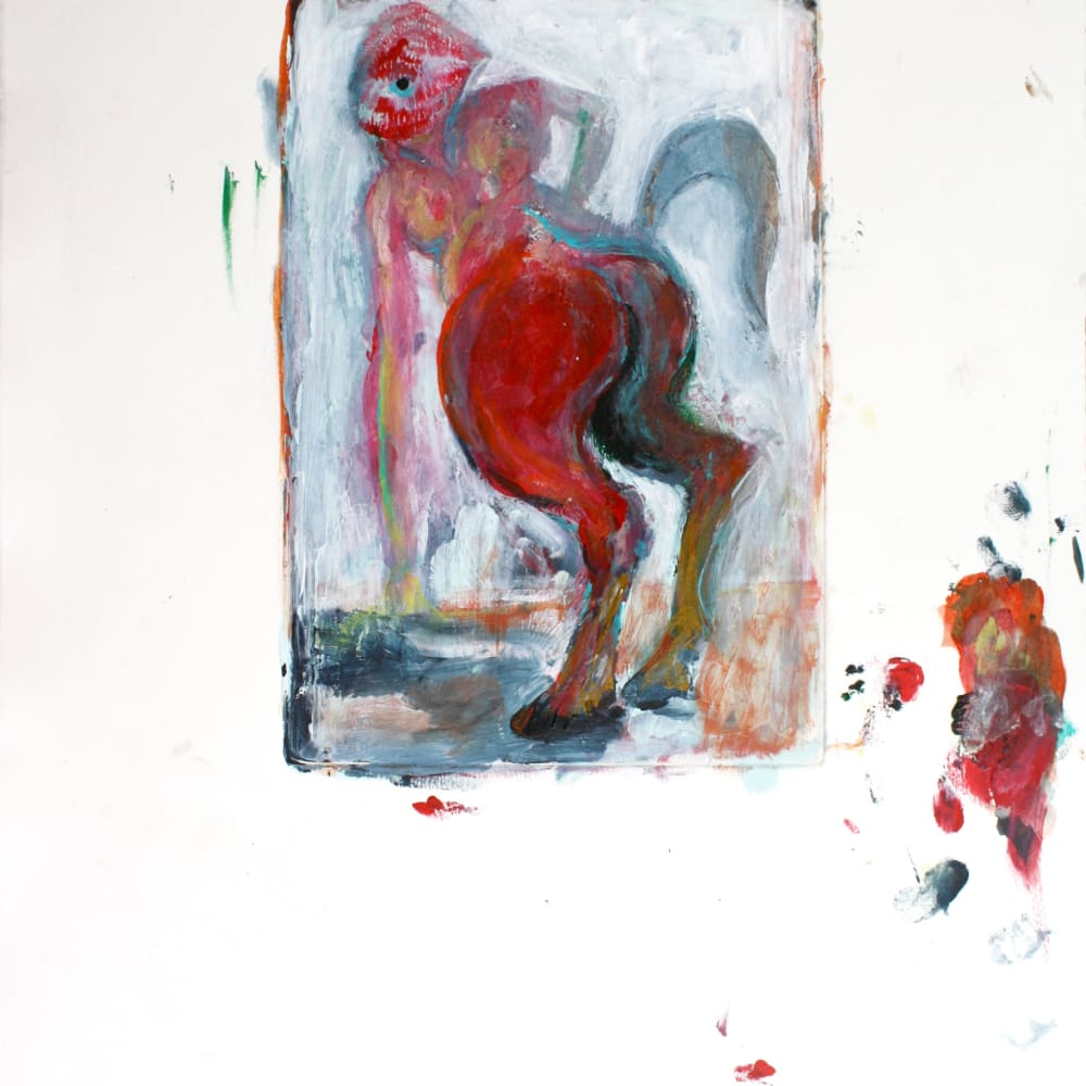 Isabelle Grobler, The Cannibals' Concupiscence : My Little Pony 2, 2020, Mixed media on paper, 37 x 40 cm