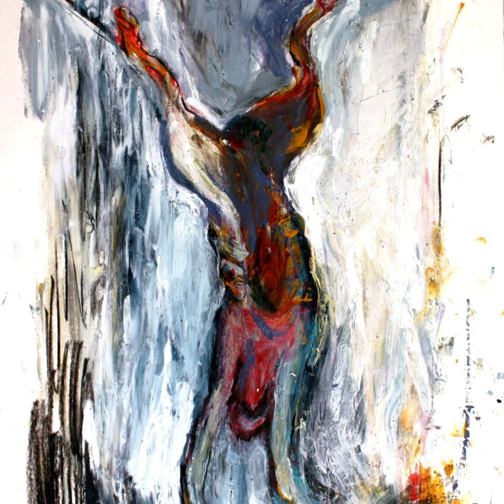 Isabelle Grobler, The Cannibals' Concupiscence : Concupiscence : Descend, 2020, Mixed media on paper, 37 x 40 cm