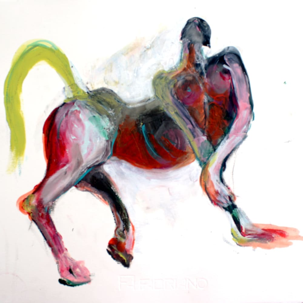 Isabelle Grobler, The Cannibals' Concupiscence : My Little Pony 1, 2020, Mixed media on paper, 37 x 40 cm