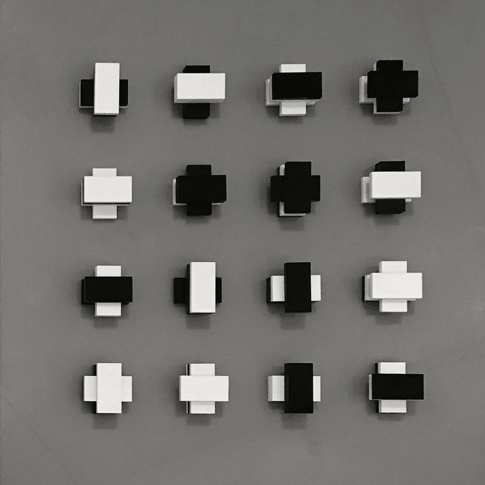 Peter Lowe, Four rows on four levels, 1969