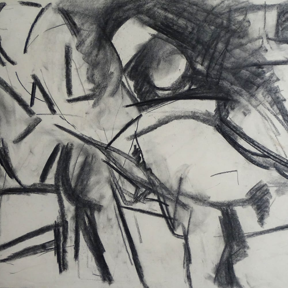 Lovers Study No.5, c.1970 Charcoal on paper 22 x 30 in
