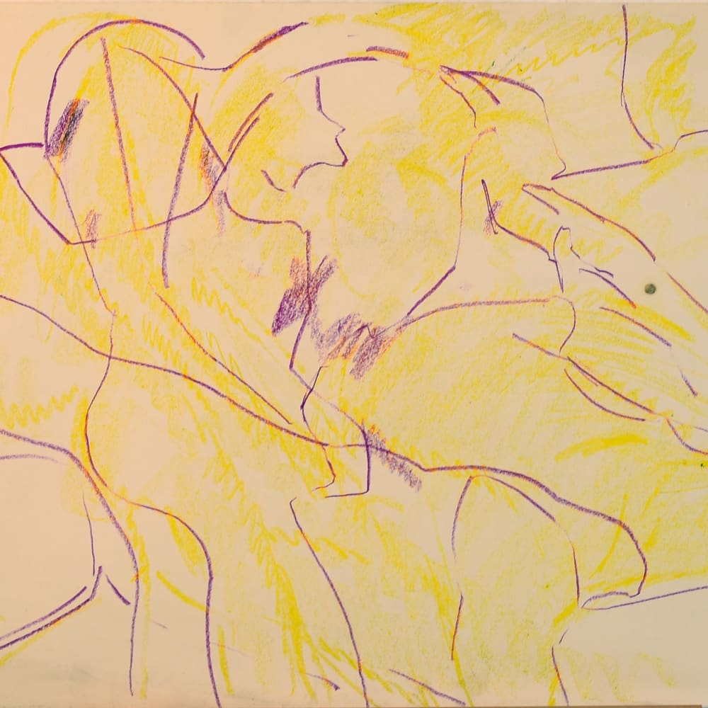 Lovers Study No.10, c.1970 Pastel on paper 22 x 30 in