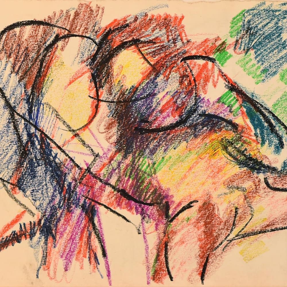 Lovers Study No.11, c.1970 Pastel on paper 11 1/4 x 15 1/4 in