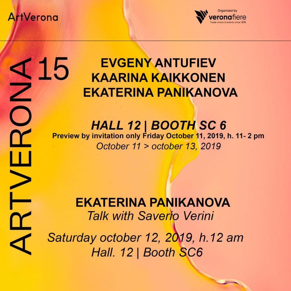 Ekaterina Panikanova | Io, l'opera e tu Saturday October 12, h.12 am Hall 12 | Booth sc 6, Porta Re Teodorico, viale dell'Industria 37135, Verona