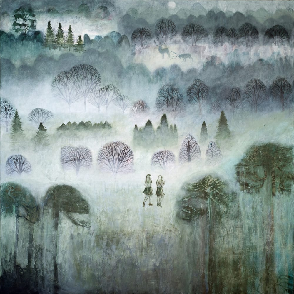 Dawn Stacey Into The Forest Oil on Canavs