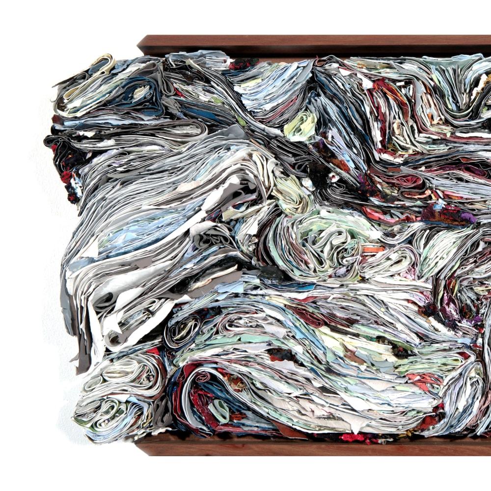 Carolyn Parton l Silent song (Detail)  l 2018 l Reconstituted paint strata l 42x68x7cmx6.4kg