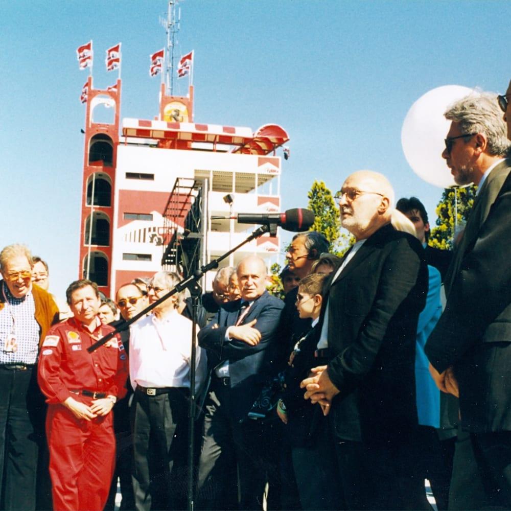 © Maggiore g.a.m. | Vernissage of Rampante by Arman, Imola's trackrace, 1999.