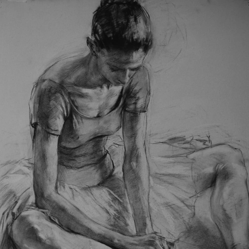 Sensational Charcoal Drawing by Katya Gridneva
