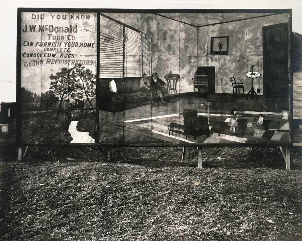 Walker Evans, Roadside Furniture Store Sign Near Birmingham, AL, 1936