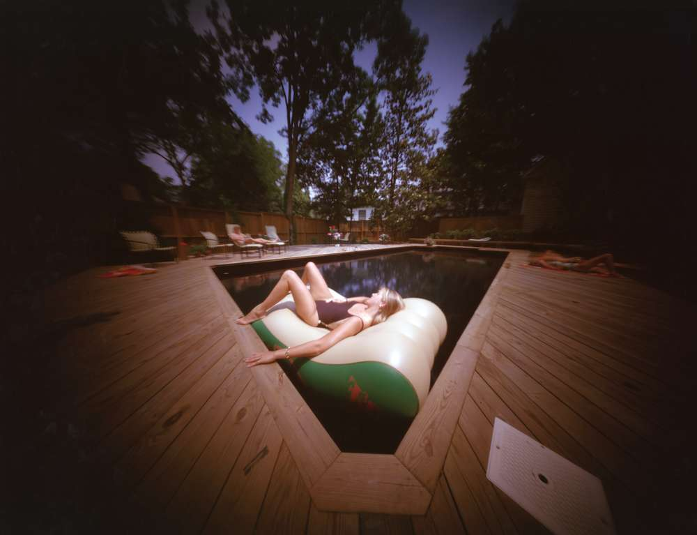 Willie Anne Wright, Richmond, Virginia: Sarah at Casa's Pool, 1985