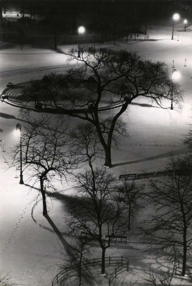 André Kertész, Washington Square at Night, 1954