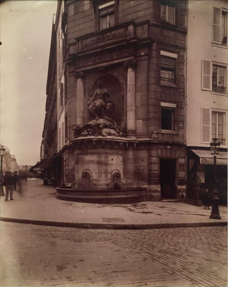 Eugène Atget, Fontaine Cuvier, Jardin des Plantes, 5e Arrondissement, 1899-1901
