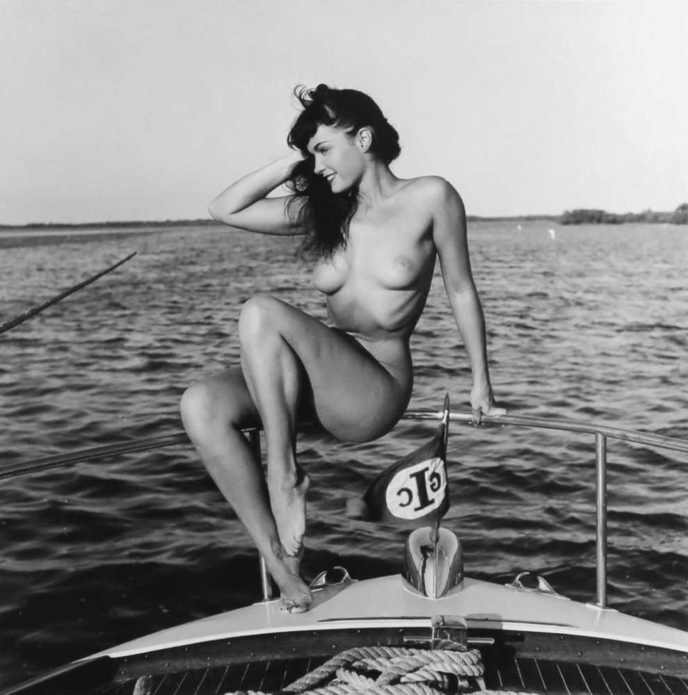Bunny Yeager, Untitled (Bettie Page on Boat)