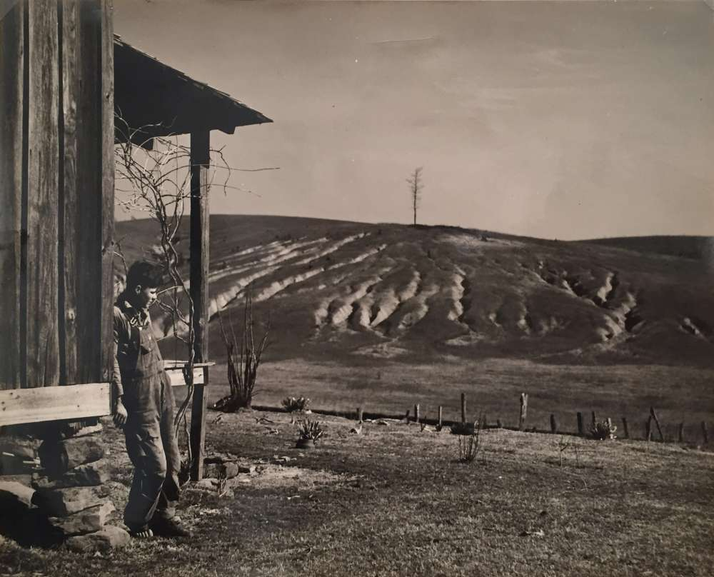 Arthur Rothstein, Eroded land on tenant's farm. Walker County, Alabama, 1937