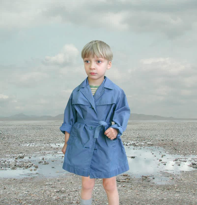 Loretta Lux, Boy in blue raincoat 2, 2001