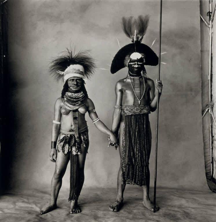 Irving Penn, Young Enga Couple, New Guinea, 1970