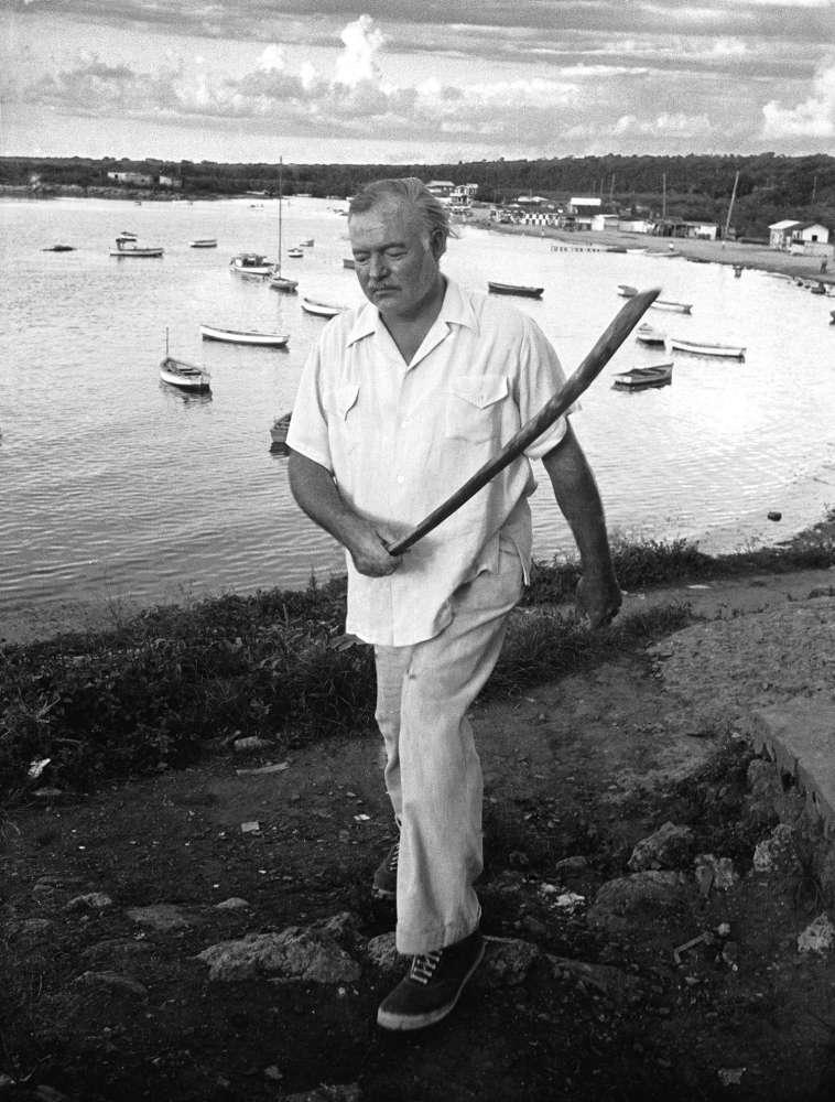 Alfred Eisenstaedt, Ernest Hemingway, Cojimar Harbor, Cuba, 1935