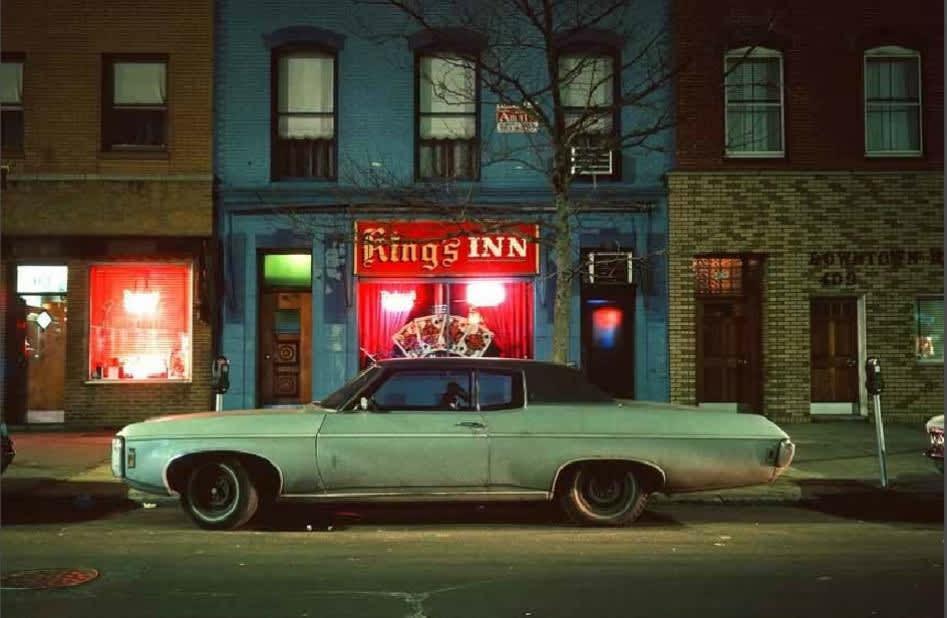 Langdon Clay, King's Inn Car, Hoboken New Jersey, 1975