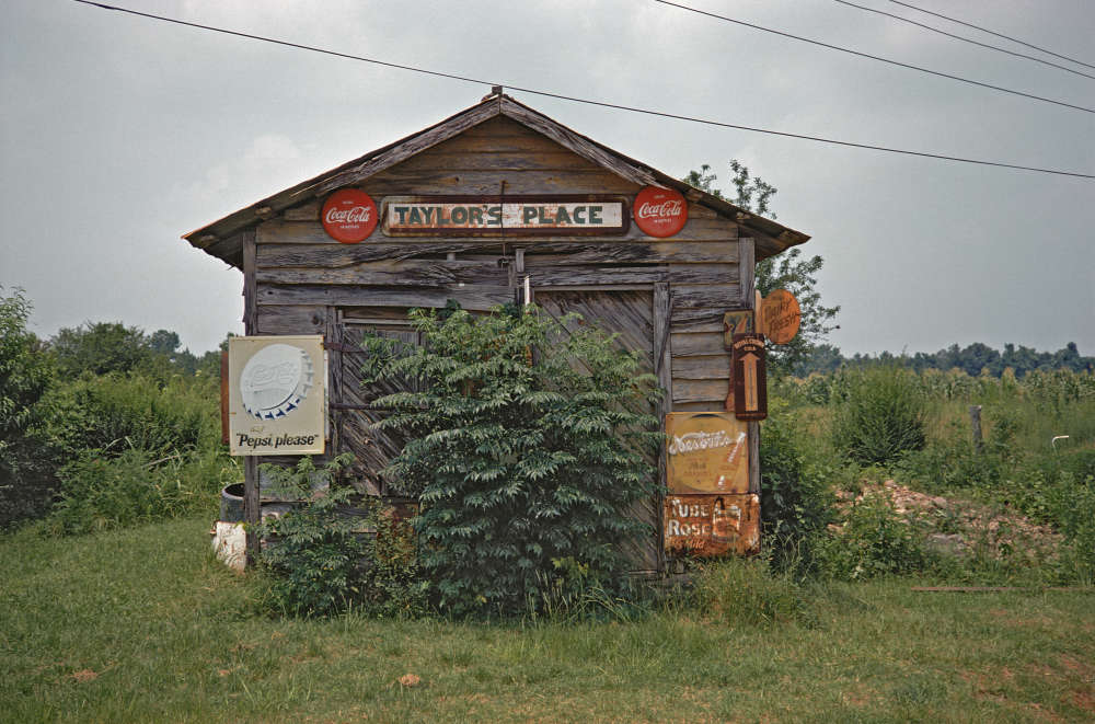 William Christenberry, Taylor's Place, near Greensboro, Alabama, 1974
