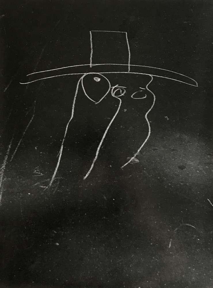 Helen Levitt, New York (Large hat, minimal drawing), 1938