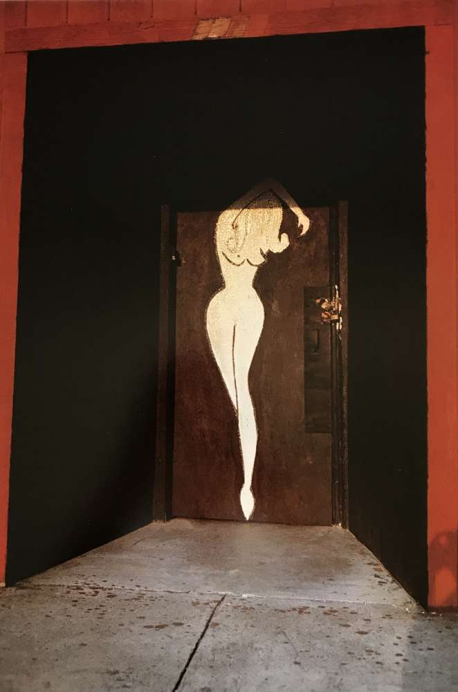 William Eggleston, Untitled (Woman's Nude Silhouette on Red Door), 1972