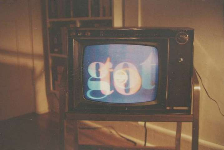 William Eggleston, TV with Letters