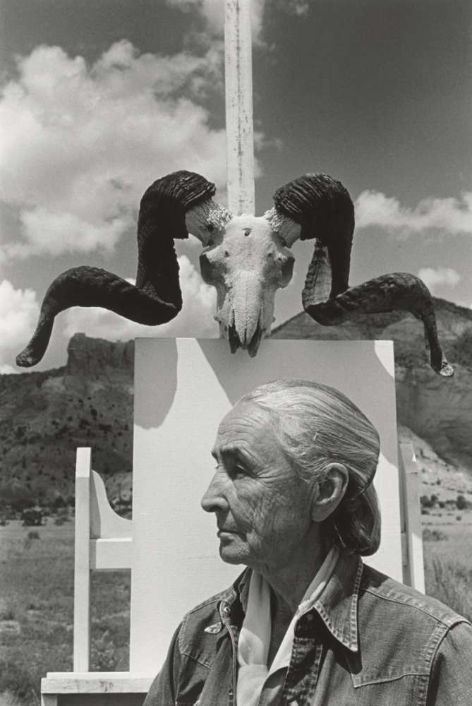 Arnold Newman, Georgia O'Keeffe, Ghost Ranch, New Mexico, 1968