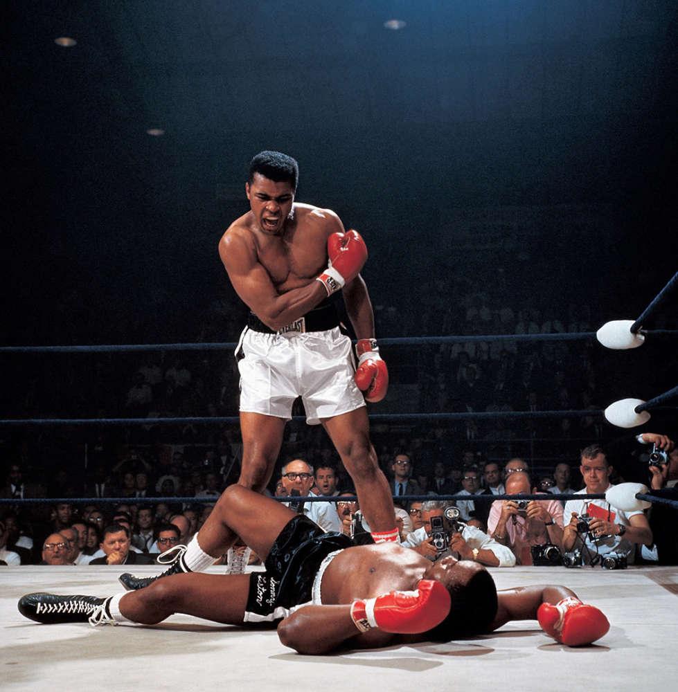 Neil Leifer, Muhammad Ali KO's Sonny Liston, Lewiston, Maine, 1965
