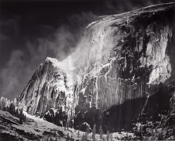 Ansel Adams, Half Dome, Blowing Snow, Yosemite National Park, Ca, 1955