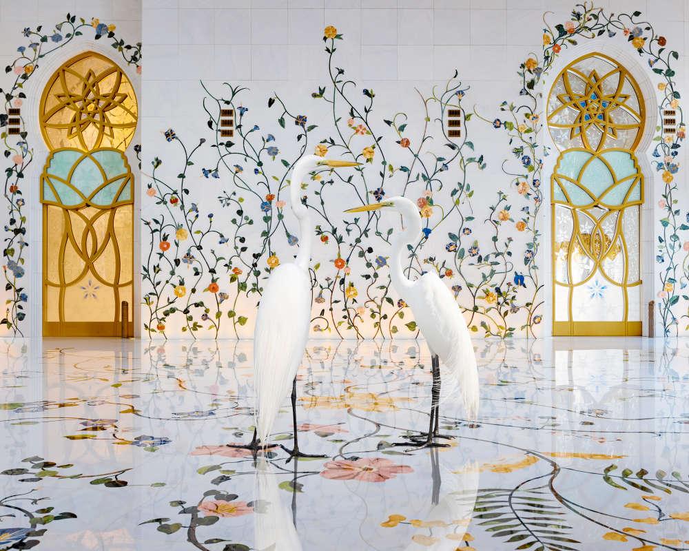 Karen Knorr, Morning Glory, Grand Mosque, Abu Dhabi, 2019