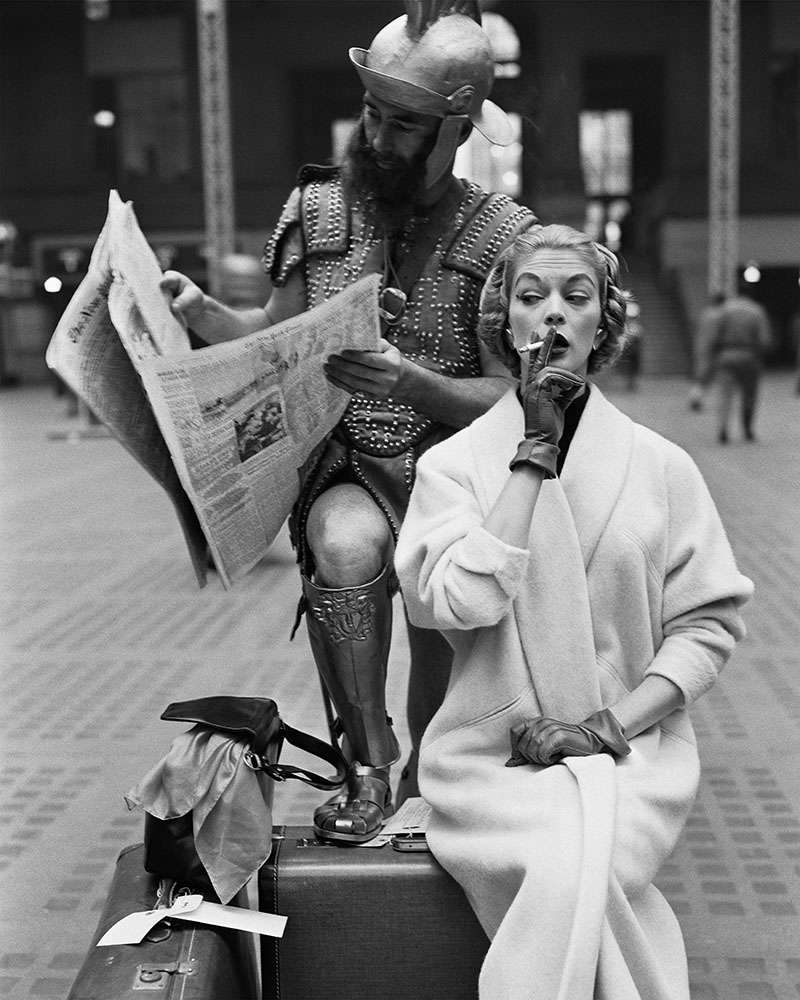 William Helburn, Jean Patchett and Centurian, Penn Station, New York, NY, 1955