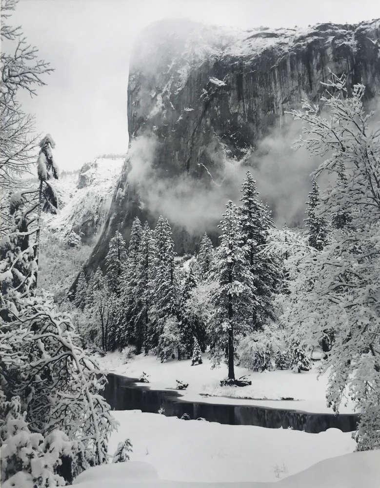 Ansel Adams, El Capitan, Yosemite Valley, CA, Winter, c. 1950