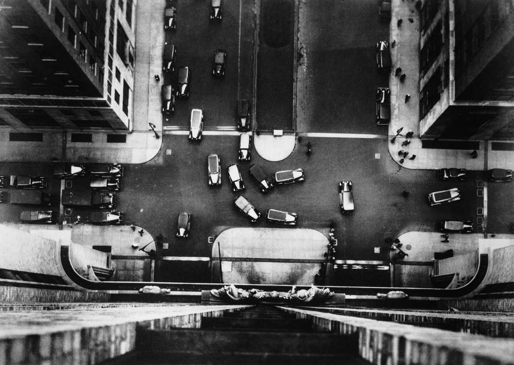 Margaret Bourke-White, Bird's eye view of Manhattan for Erwin, Wasey & Co., New York City, 1934