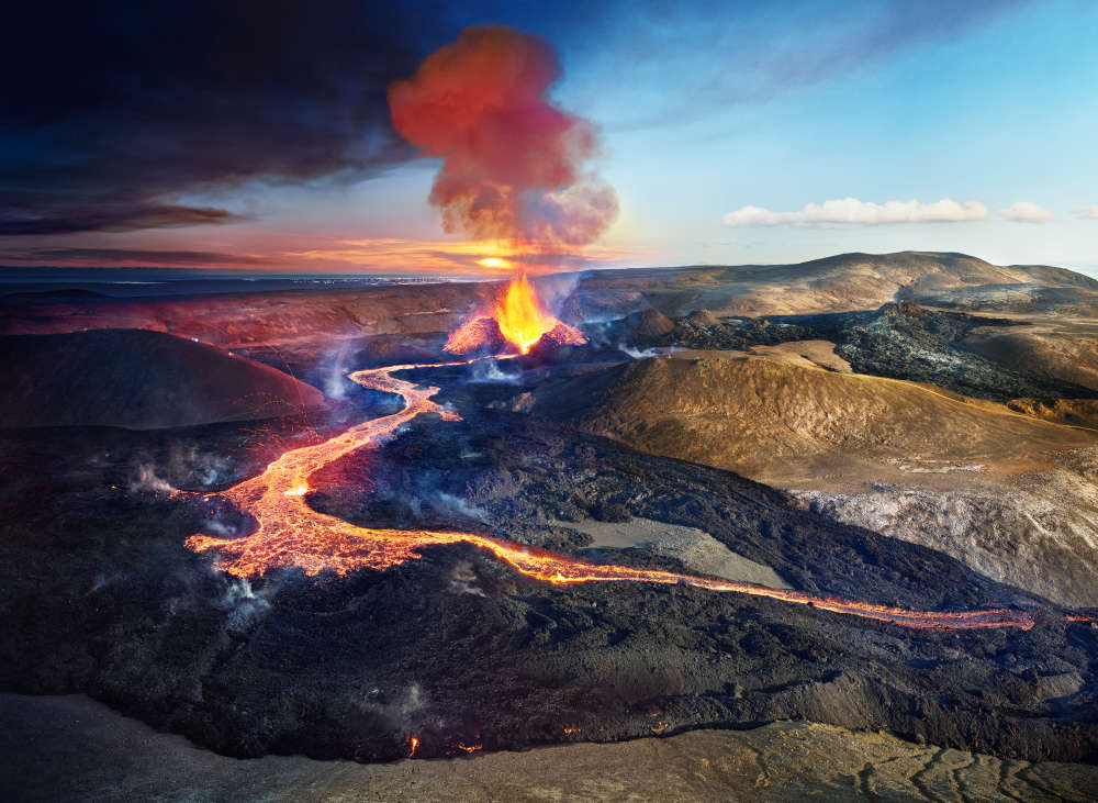 Stephen Wilkes, Volcano Fagradalshraun, Iceland, 2021