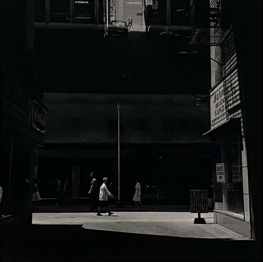 Harry Callahan, Street Scene, with Left Turn Only Sign, 1950 - 1960