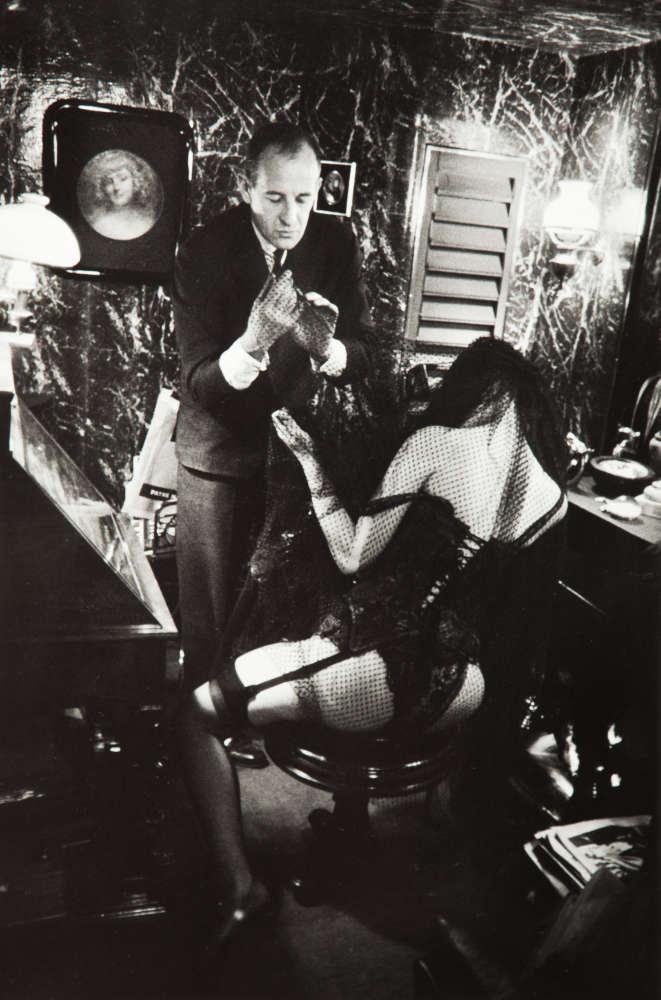 Frank Horvat, Bernardin and Stripper, Paris (b), 1962