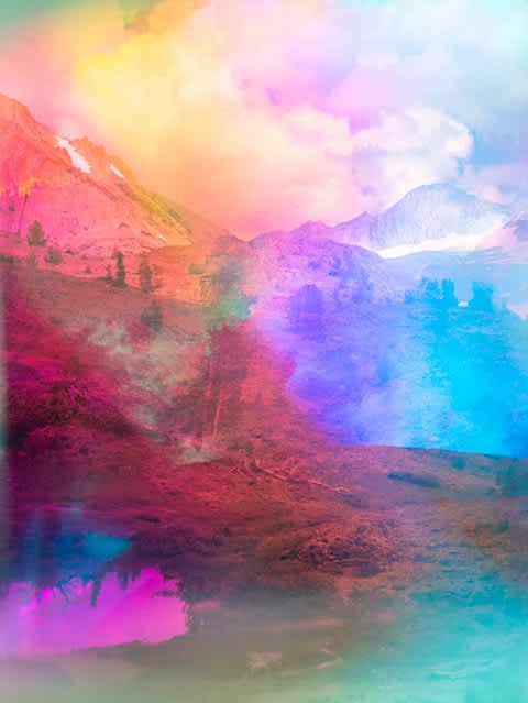 Terri Loewenthal, Psychscape 848 (Hummingbird Lake, CA), 2018