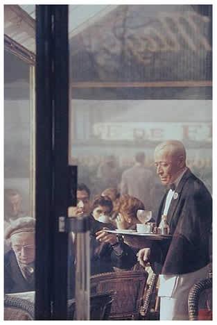 Saul Leiter, Waiter, Paris, 1958