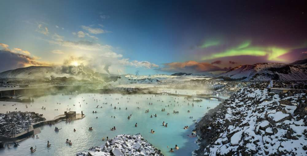 Stephen Wilkes, Blue Lagoon, Reykjavik, Iceland, Day to Night, 2019