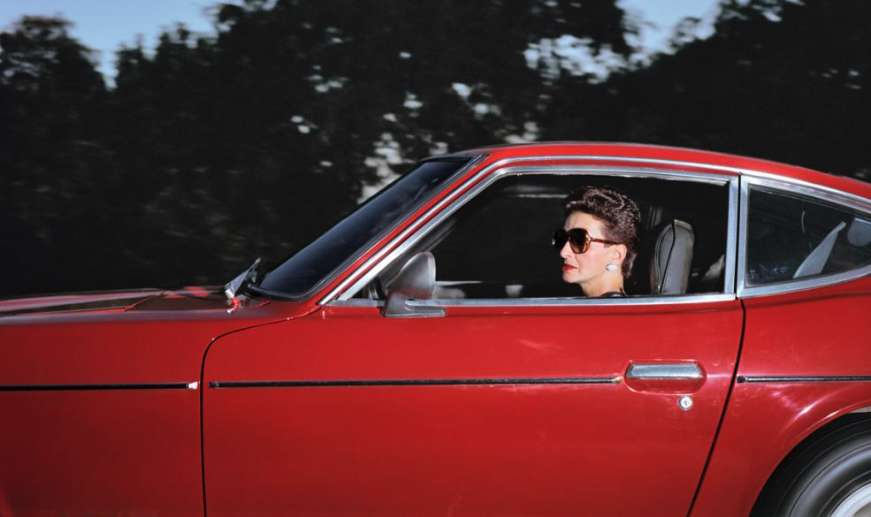 Andrew Bush, Woman wheeling down Sunset Boulevard at 34 mph in Beverly Hills on an afternoon in the summer of 1990