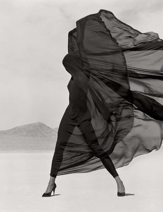 Herb Ritts, Versace, Veiled Dress, El Mirage , 1990