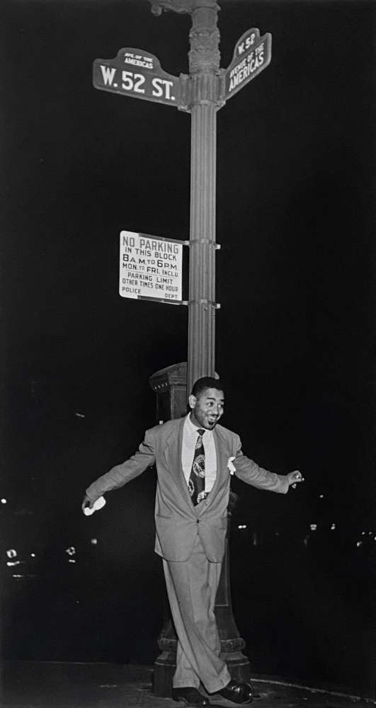 William Gottlieb, Dizzy Gillespie on 52nd Street, NYC, c. 1946