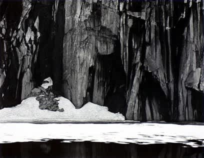 Ansel Adams, Frozen Lake and Cliffs, Kaweah Gap Sequoia National Park. Calfornia, 1932