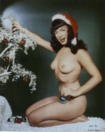 Bunny Yeager, Untitled Bettie Page, Playboy Centerfold-Christmas