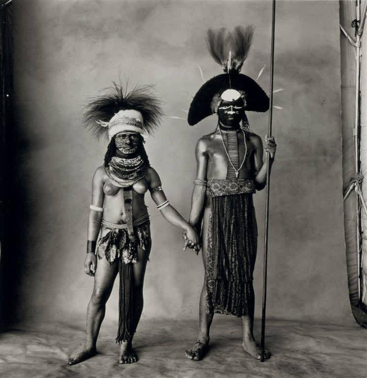 Irving Penn, Young Enga Couple, New Guinea, 1970