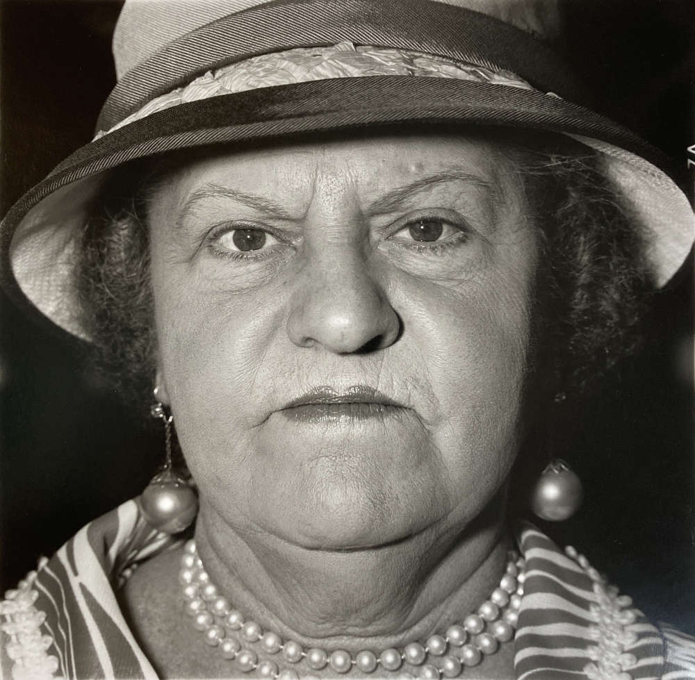 Diane Arbus, A Woman with Pearl Necklace and Earrings, N.Y.C., 1967