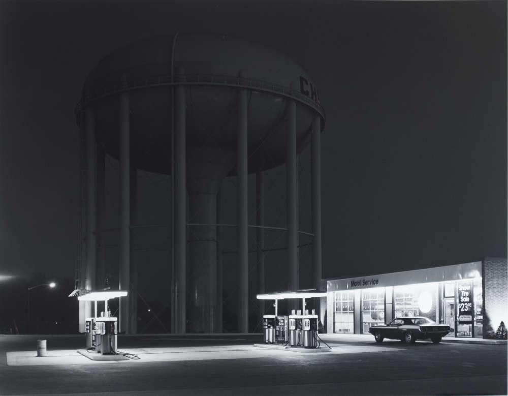 George Tice, Petit's Mobil Station, Cherry Hill, N.J., 1974