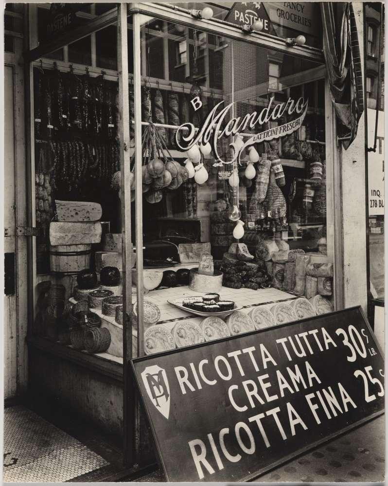Berenice Abbott, Cheese Store, 276 Bleeker Street, Manhattan, February 2, 1937